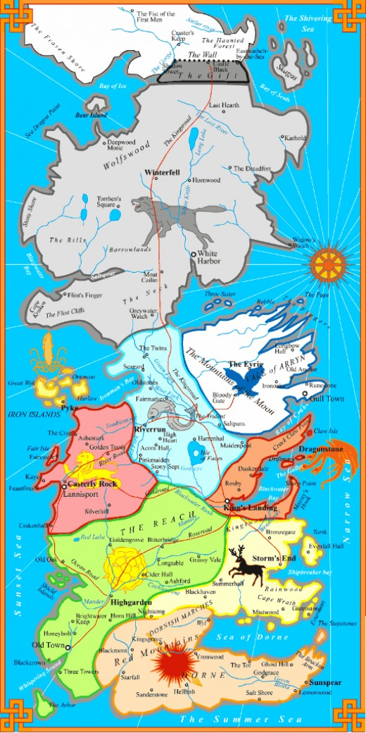 Game of Thrones Political Map