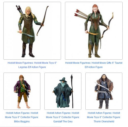 Hobbit 6 Inch Action FIgures