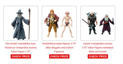 3.75 inch Hobbit action figures