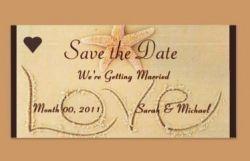 Beach Theme Wedding Save the Date Card