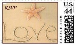 Beach Lovers Postage Stamps