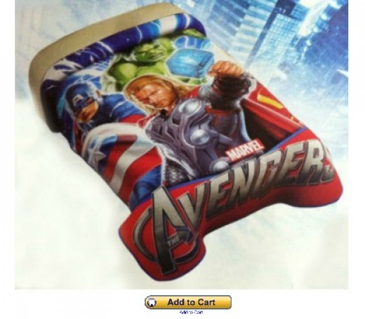 Kids Avengers bedding