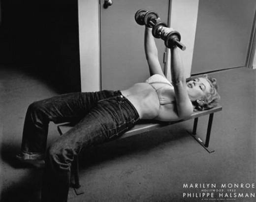 Marilyn Monroe Workout Photo