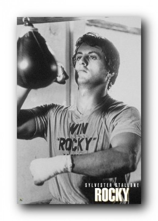 Sylvester Stallone Workout Poster