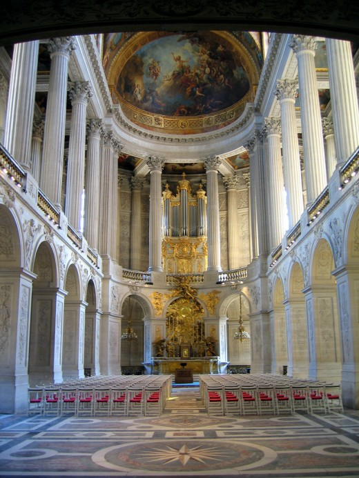 Royal Chapel Versailles. After his father's death, Louis XVI and Marie Antoinette prayed for guidance here, fearing they were too young to run the country. Before their children had grown up, the Royal Family had lost their heads. Photo: Sean Munson