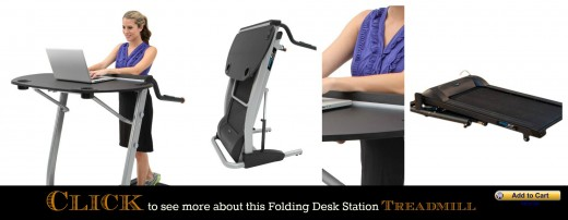 Folding Workstation Treadmill Walking Desk