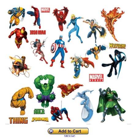 Marvel Superhero Wall Stickers