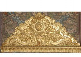 The headboard of the Royal Bed at the Palace, Versailles