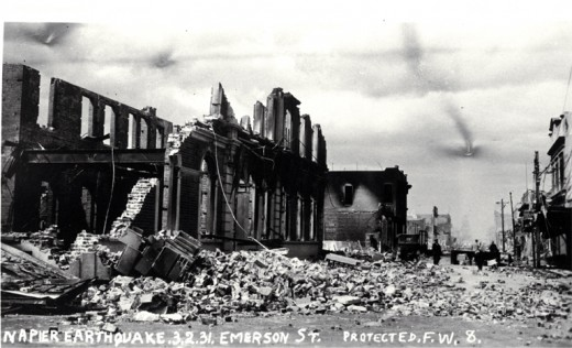 Earthquake destruction, Napier 1931