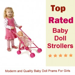 Toy Baby Doll Strollers and Prams for Girls
