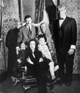 The Addams Family were weirder than the Munsters, but just as much fun. Addams Family photo card.