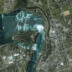 The upper Niagara River heads down to the falls.