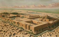 An artists impression of the city of Urim (Ur)