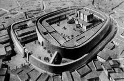 An artists Impression of the City and the main temple of Eridu