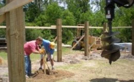 concrete post holes