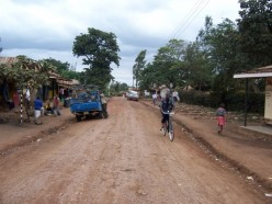 Passing through little towns on the way out of Arusha.