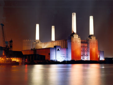 Battersea Power Station by Night - London UK
