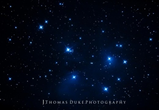 The Pleiades, also known as the Seven Sisters
