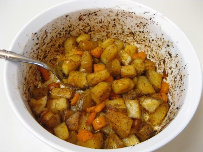 Roasted Potatoes with Carrots