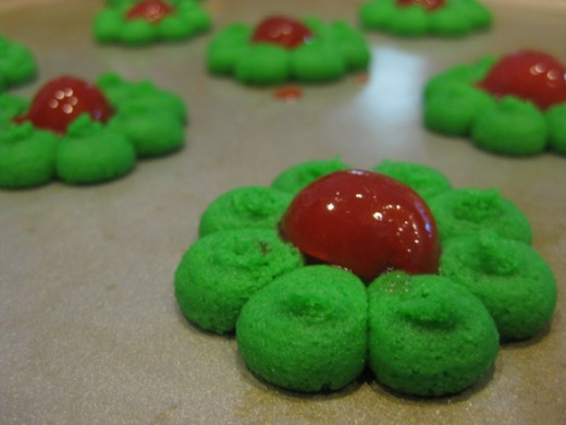 christmas wreaths spritz cookies