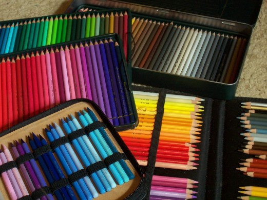 Colored pencils are delicate protect the soft core ones with elastic