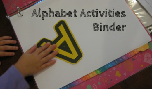 Alphabet Activities Binder Letter A