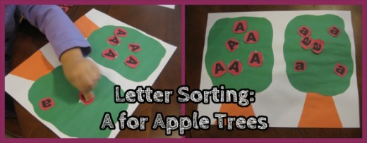 Letter A Sorting Apple Trees