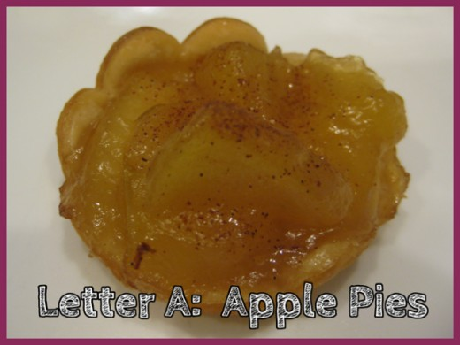 Letter A Apple Pies