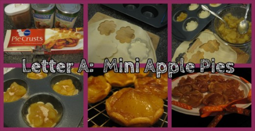 Letter A Mini Apple Pies