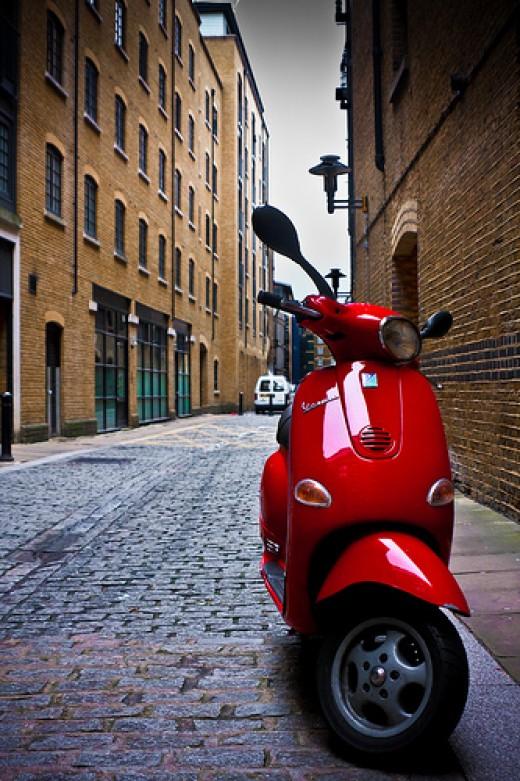 Vespa Scooter by garrynight via Flickr