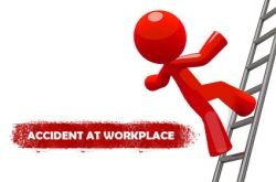 Accident at work place