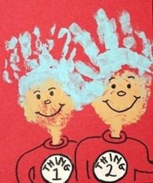 Thing 1 and Thing 2 Hand Prints