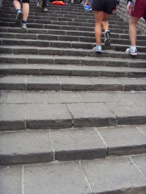 Even steeper stairs