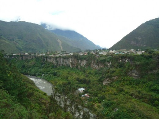 Baños from the other side.
