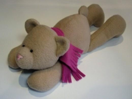 A no sew teddy bear scarf