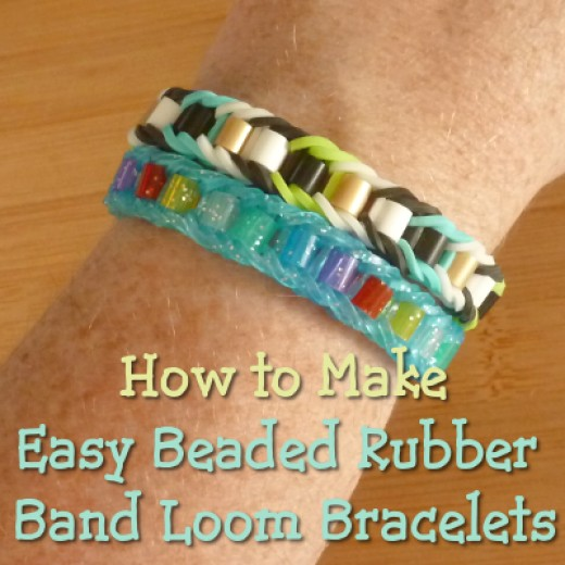 How to Make Beaded Rubber Band Rainbow Loom Bracelets