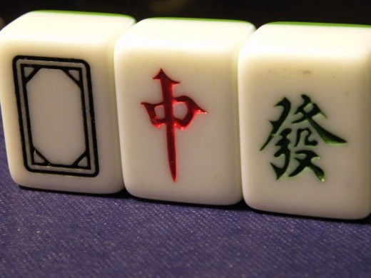 Dragons: These honors can only be used to make sets. Four tiles of each Dragon.