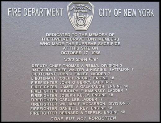 10-17-1968 FDNY 23rd St. Fire