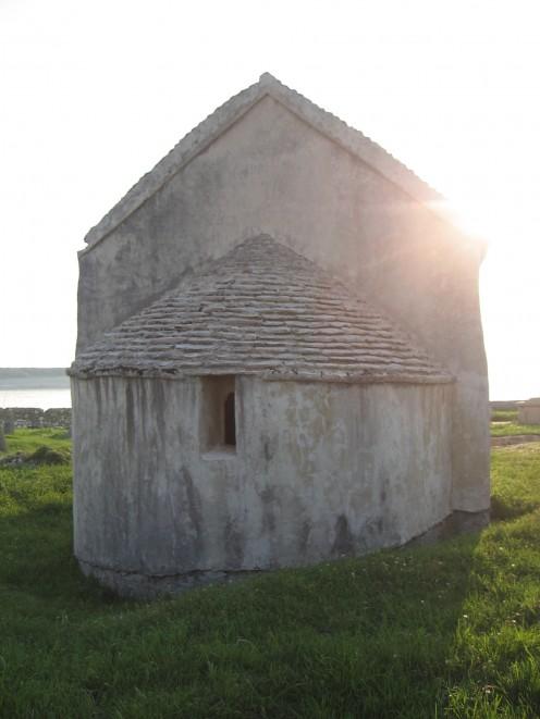 Island Pag, St. Nicholas church, from 12.th century, Croatia, photo by Tatjana-Mihaela