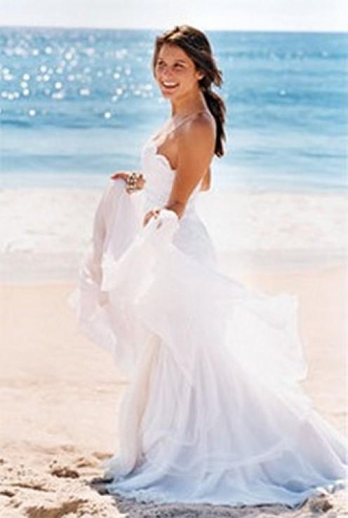 Non Formal Beach Wedding Dresses Gowns 2010 One Shoulder Informal Wedding