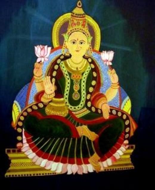 Painting of Goddess Lakshmi by my sister Surabhi