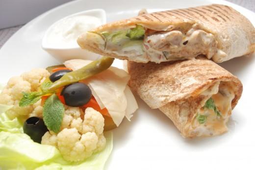Lebanese food- Shawarma