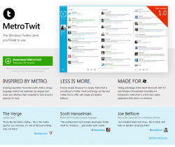 The MetroTwit Homepage (published for fair use under US Copyright Law to aid identity)