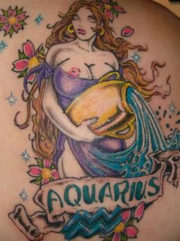 Aquarius Tattoo Designs