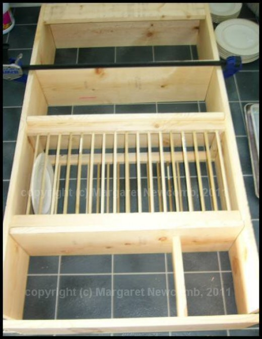 Dry fit all the pieces of your cabinet.