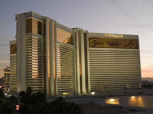 Mirage Las Vegas at sunset, December 14, 2007
