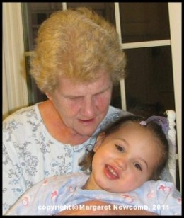 Momma and Aspen (my grand-daughter) (her great-grand-daughter).