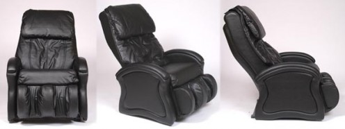 example of poromeric imitation leather as seen on a massage chair