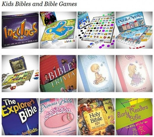 Preview of Bible Games and Kids Bibles