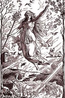 German goddess Ostara